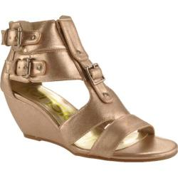 Women's Kensie Girl Delphine Gold Metallic Faux Leather