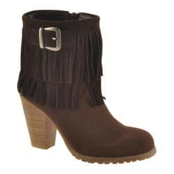 Women's Kensie Girl Ranella Chocolate Cow Split Suede