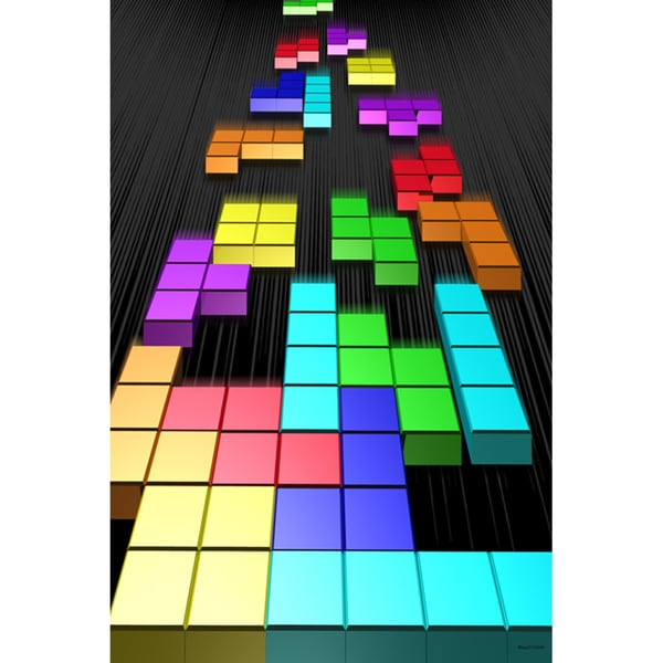 Maxwell Dickson 'Tetris' Retro Video Game Canvas Art Print