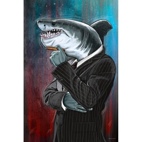 Maxwell Dickson 'Business Shark' Canvas Art Print