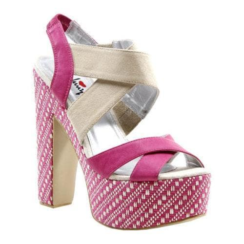 Women's Luichiny Lets Ride Fuchsia/Beige Suede/Imi Leather