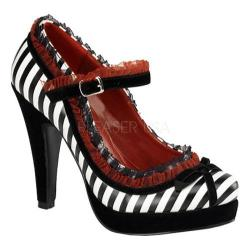 Women's Pin Up Bettie 18 Black/White PU