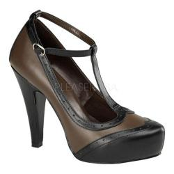 Women's Pin Up Bettie 22 Black/Brown PU