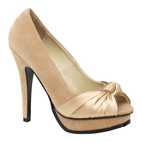 Women's Pin Up Pleasure 05 Champagne Sueded PU/Satin