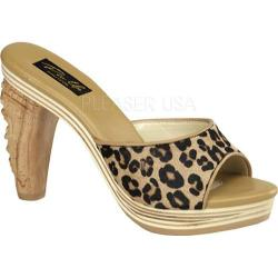 Women's Pin Up Tiki 100 Tan Leopard Pony Hair