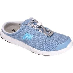 Women's Propet Travel Walker Slide Light Blue Mesh