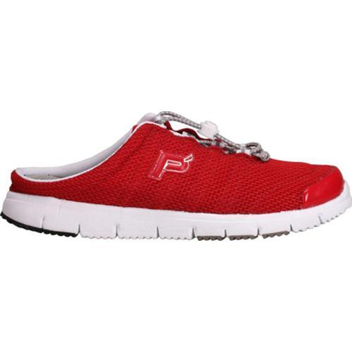 Women's Propet Travel Walker Slide Red Mesh