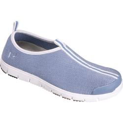 Women's Propet Travel Walker Slip-On Powder Blue Stretch Mesh