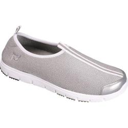 Women's Propet Travel Walker Slip-On Silver Stretch Mesh