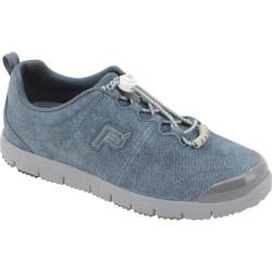 Women's Propet TravelWalker Suede Denim Sky Blue