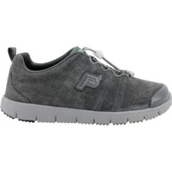 Women's Propet TravelWalker Suede Denim Taupe