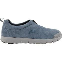 Women's Propet TravelWalker Zip Suede Denim Blue Sky