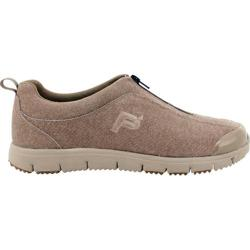 Women's Propet TravelWalker Zip Suede Denim Taupe
