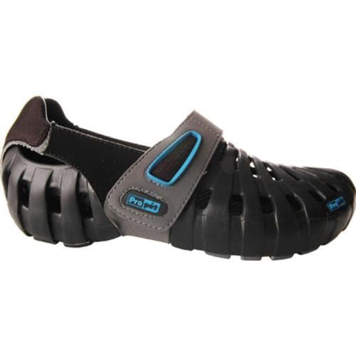 Women's Propet Voyager Walker Black/Robins Egg Blue