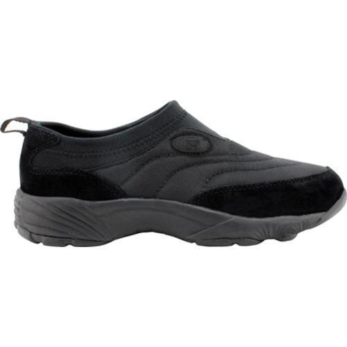 Men's Propet Wash & Wear Slip-on Nylon Black Suede