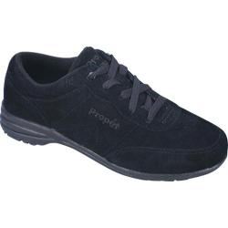 Women's Propet Washable Walker Suede Black Suede