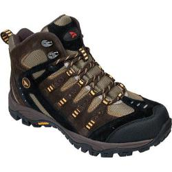 Men's Rugged Shark Attitude Mid Brown/Black/Orange Leather/Mesh