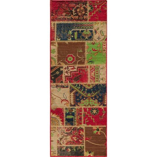Heriz Patchwork Multi Wool Rug