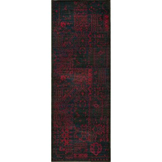 Heriz Patchwork Red Wool Rug