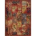 Kashan Patchwork Red Wool Rug