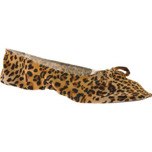 Women's Vecceli Italy FF-101 Yellow Leopard Compressed Leather