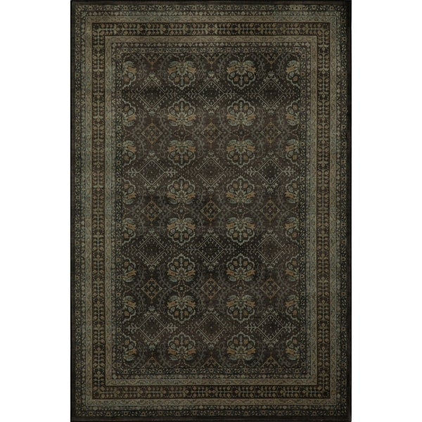 Mirage Diamonds Charcoal Power-Loomed Rug (2' x 3')
