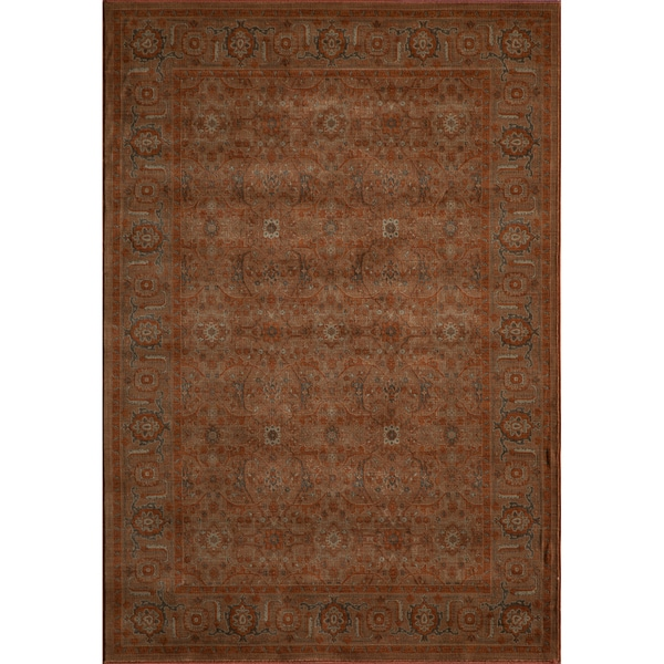 Mirage Royal Paprika Orange Power-Loomed Rug (2' x 3')