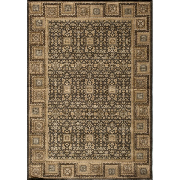 Mirage Versailles Charcoal Power-Loomed Rug (2' x 3')