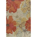 Hand-tufted Copia Blossom Multi Polyester Rug