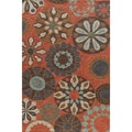 Hand-tufted Copia Carnival Terracotta Polyester Rug