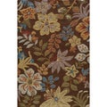 Hand-tufted Copia Catalina Brown Polyester Rug