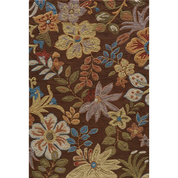 Copia Catalina Brown Hand-Hooked Polyester Rug (2' x 3')