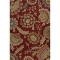 Hand-tufted Copia Catalina Burgundy Polyester Rug