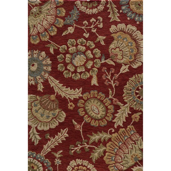 Copia Odessa Brick Hand-Hooked Polyester Rug