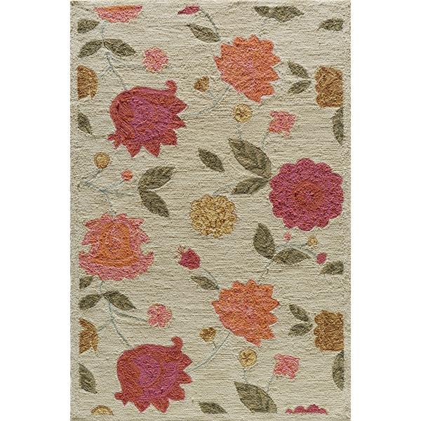 Copia Garden Beige Hand-Hooked Polyester Rug