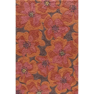 Hand-tufted Copia Petals Multi Polyester Rug