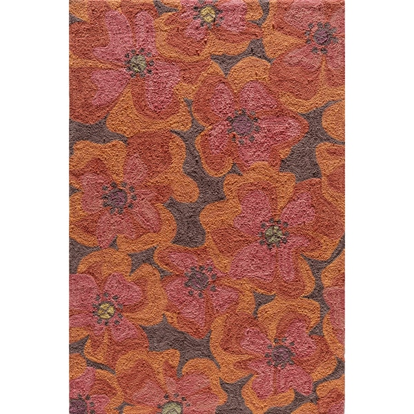 Copia Petals Multi Hand-Hooked Polyester Rug (2' x 3')