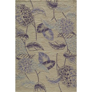 Hand-tufted Copia Flower Lilac Polyester Rug
