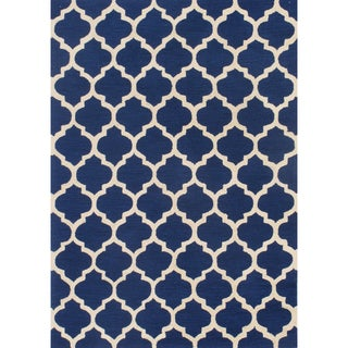 Casablanca Indigo Hand-hooked Rug (2' x 3')