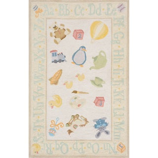 Momeni &#39;Lil Mo Classic Toys&#39; Yellow Cotton Rug