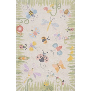 Momeni 'Lil Mo Springtime Fun' Ivory Cotton Rug