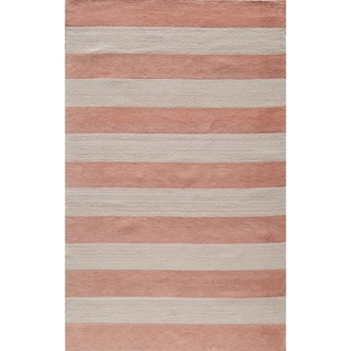 Momeni 'Lil Mo Cabana Strip' Pink Cotton Rug
