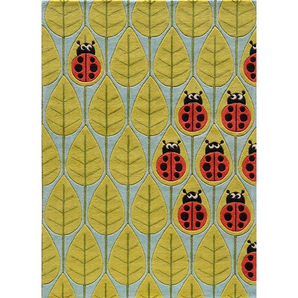 Momeni 'Lil Mo Ladybug Rug (2' x 3')