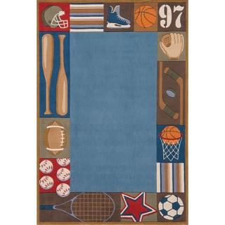 Momeni Lil Mo Sports Blue Rug