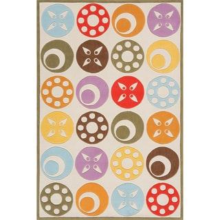 Momeni 'Lil Mo Candy Dots Ivory Rug (2' x 3')