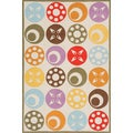 Hand-tufted Momeni Lil Mo Candy Dots Ivory Rug