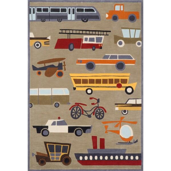 Momeni 'Lil Mo Transportation Grey Rug (2' x 3')