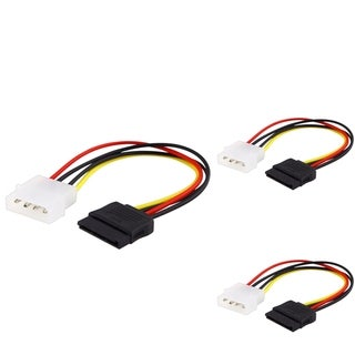 BasAcc 6-inch Internal Power 5.25-M to SATA Cable (Pack of 3)