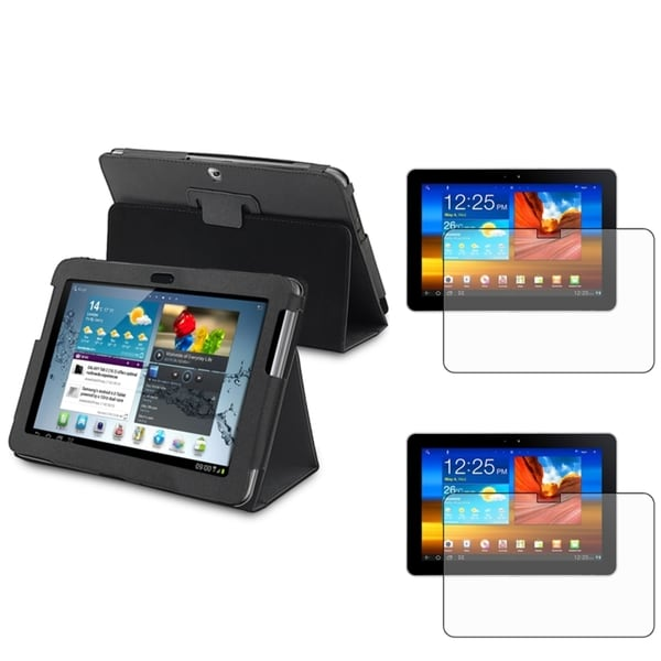 INSTEN Black Tablet Case Cover/ Screen Protector for Samsung Galaxy Tab 2 10.1