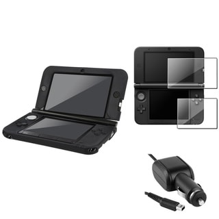 INSTEN Black Case/ Screen Protector/ Charger for Nintendo 3DS XL